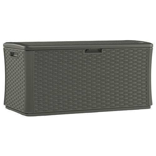Suncast Stoney 134 Gal. Resin Wicker Deck Box