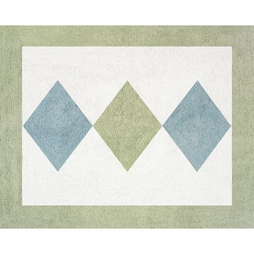 Green and Blue Argyle Accent Floor Rug by Sweet Jojo Designs
