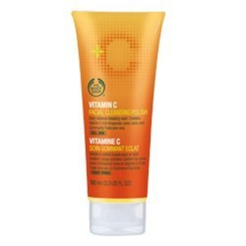 The Body Shop Vitamin C Daily Glow Facial Cleansing Polish, Face Scrub, 4.2 Fl. Oz.