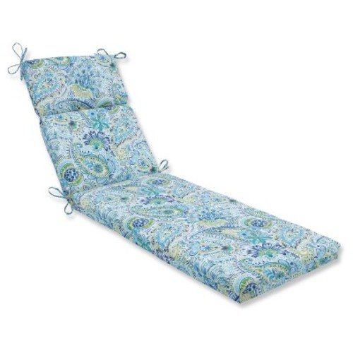 Outdoor/Indoor Gilford Blue Chaise Lounge Cushion - Pillow Perfect
