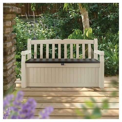 Eden Garden Bench-70G - Beige & Brown - Keter