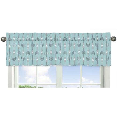 Sweet Jojo Designs Arrow Print Earth Sky Collection Window Curtain Valance