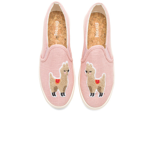 Soludos Llama Slip On Sneaker in Dusty Rose