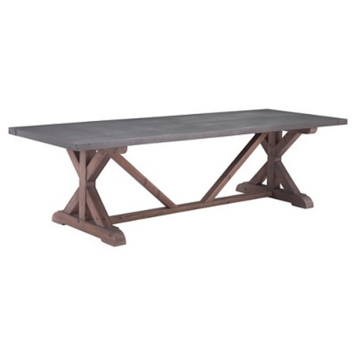 ZUO Durham Gray and Distressed Fir Dining Table