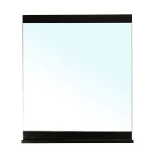 Bellaterra Home Clogher 37 in. L x 28 in. W Solid Wood Frame Wall Mirror in Black