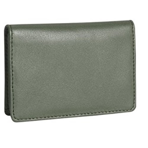 Royce Leather Men's Business Card Case [Green, One Size]