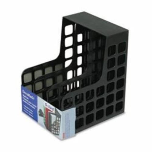ESSELTE PENDAFLEX DecoRack Plastic Magazine File, Two Snap-In Dividers, 9 x 10 5/8 x 12, Black per EA