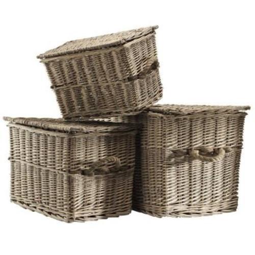 Home Decorators Collection Lyon Assorted Brown Storage Basket (Set of 3)