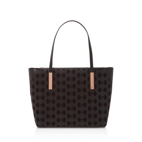 TED BAKER Cut Out Bow Leather Tote