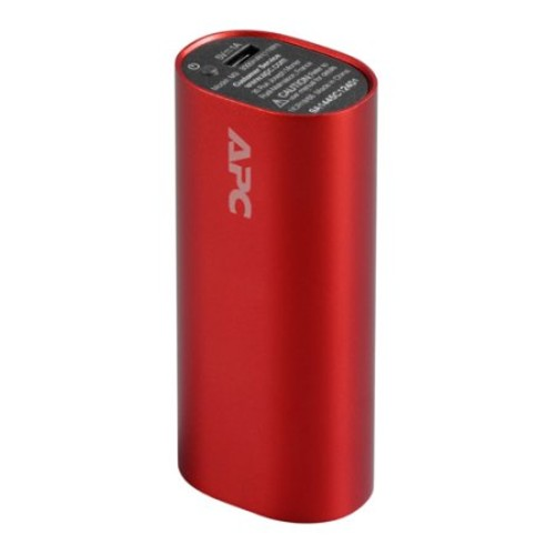 APC by Schneider Electric Mobile Power Pack, 3000mAh Li-ion Cylinder, Red