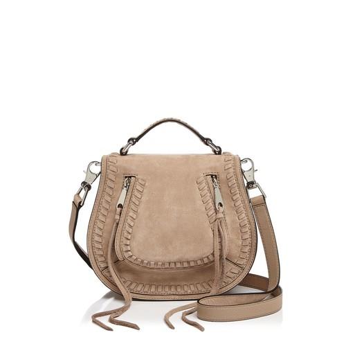 REBECCA MINKOFF Vanity Small Nubuck Saddle Bag