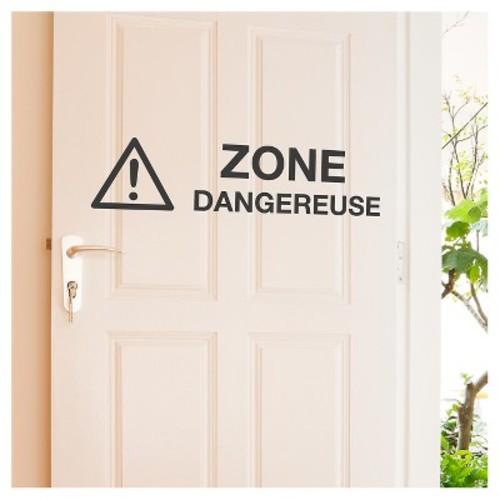 Zone Dangereuse Wall Decal - Black