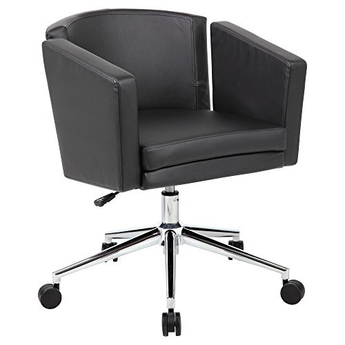 Boss Office Products Metro Club Desk Chair, Black [Black]