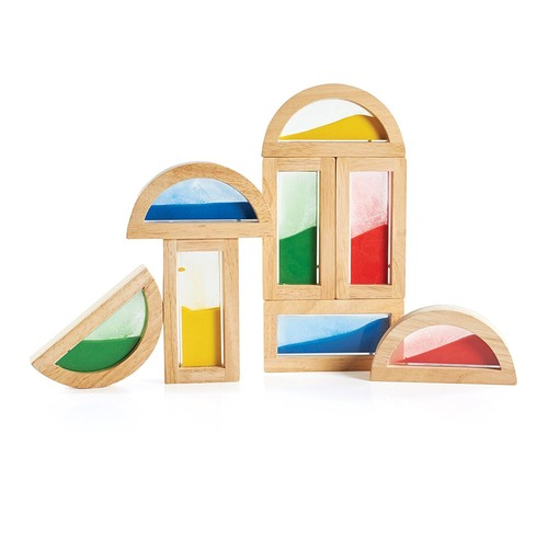 Guidecraft Sand Rainbow Blocks Set [Multicolor, None]