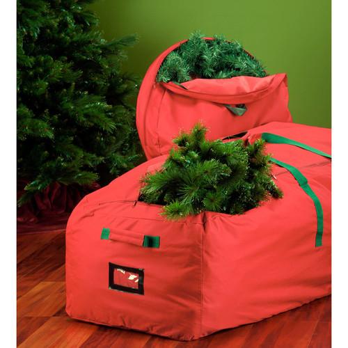 Honey-Can-Do SFT-02927 36-Inch Canvas Wreath Storage, Red [36-Inches, Wreath Storage]