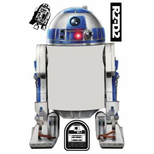 RoomMates 5 in. W x 19 in. H Star Wars Classic R2-D2 Dry Erase 4-Piece Peel and Stick Giant Wall Decal