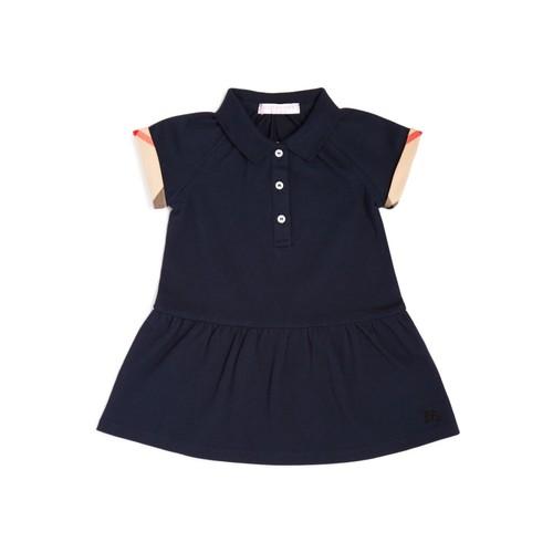 BURBERRY Girls' Cali Piqué Polo Dress - Baby