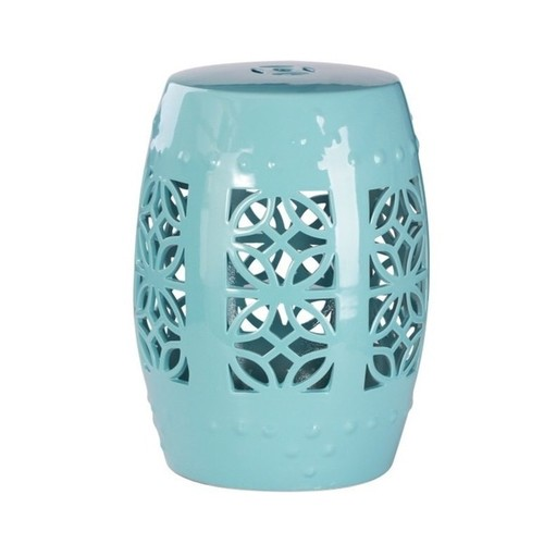 Abbyson Bella Robin's Egg Blue Ceramic Garden Stool