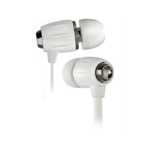 Bello BDH653WH Bello in-ear headphones with hard case-piano white and black chrome