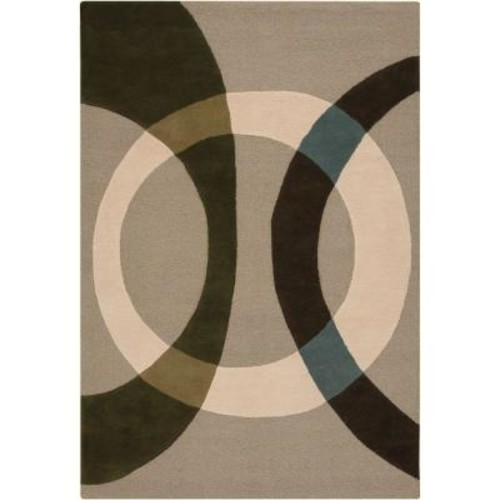 Chandra Bense Cream/Beige/Green/Brown/Blue 5 ft. x 7 ft. 6 in. Indoor Area Rug