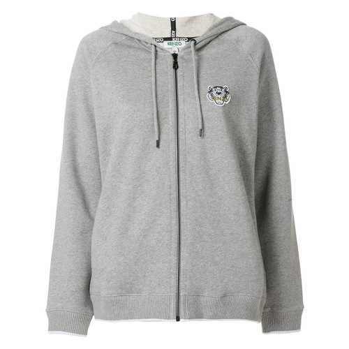 Tiger Crest zipped hoodie
