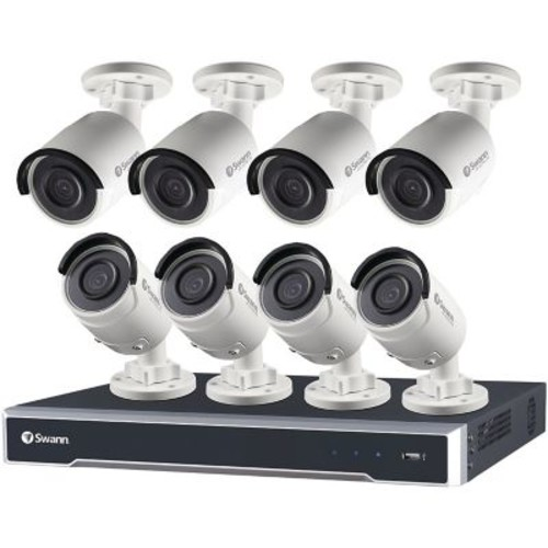 Swann 16-Channel 7500 Series 5.0-Megapixel NVR with 3TB HD & 8 Bullet Cameras (SWNVK-167508-US)