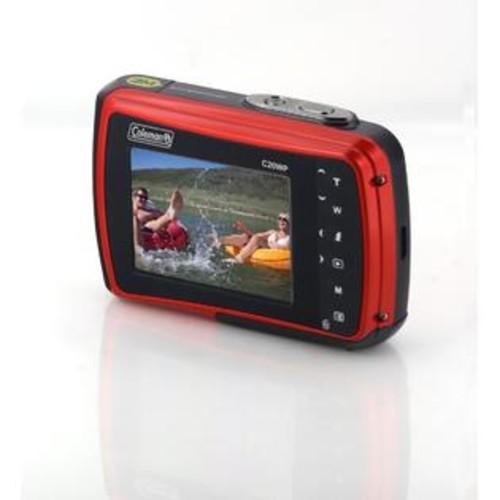 Coleman RA44009 18.0-Megapixel C20wp Xtreme HD Waterproof Digital Camera, Red