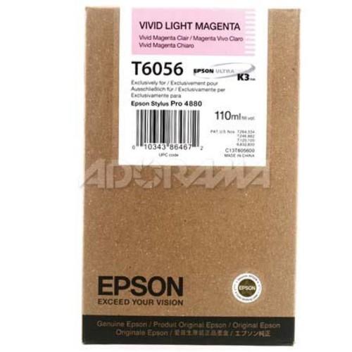 Epson T605600 UltraChrome 110ml Ink, for Stylus Pro 4800, Vivid Light Magenta T605600