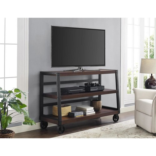 Ameriwood Wade Mahogany Mobile Entertainment Center