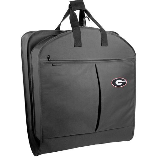 WallyBags Georgia Bulldogs 40 Inch Suit Length Garment Bag with Pockets, Black, One Size [Black GA]
