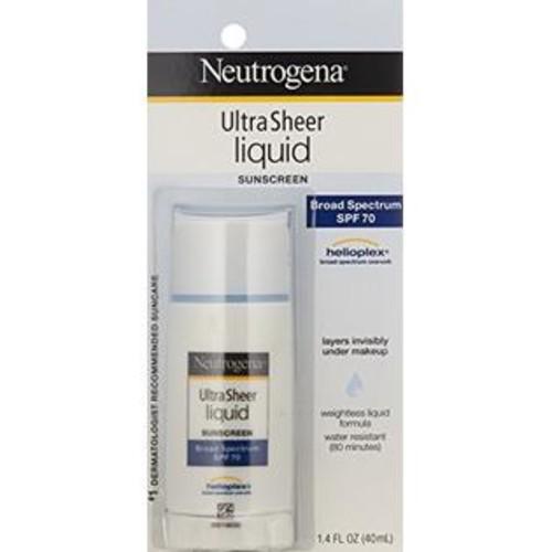 Neutrogena Ultra Sheer Liquid Daily Sunscreen Broad Spectrum SPF 70, 1.4 Fl. Oz