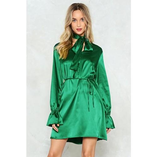 Poison Ivy Satin Dress