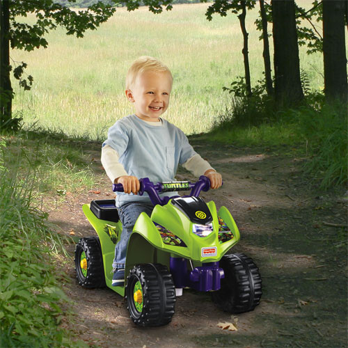 Power Wheels Teenage Mutant Ninja Turtles Lil' Quad 6 Volt Ride On