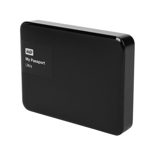 WD 3TB Black My Passport Ultra Portable External Hard Drive - USB 3.0 - WDBBKD0030BBK-NESN