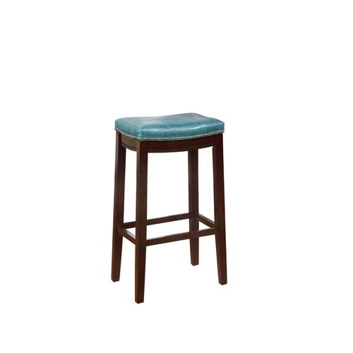 Linon Claridge Blue Bar Stool