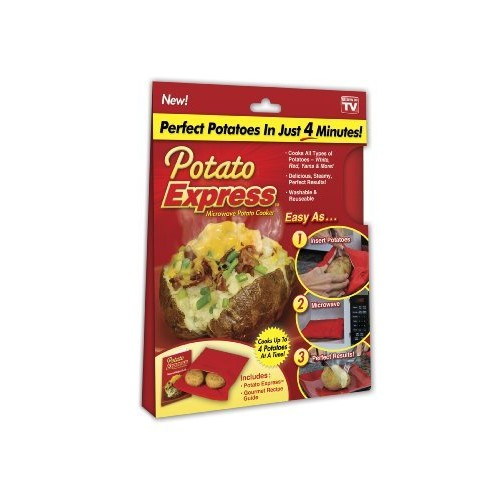 Potato Express Microwave Potato Cooker, Perfect Potatoes in Just 4 Minutes!  As Seen On TV [Small]