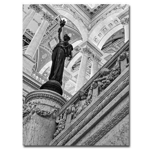 Trademark Global Gregory O'Hanlon 'Library of Congress- Great Hall' Canvas Art [Overall Dimensions : 18x24]