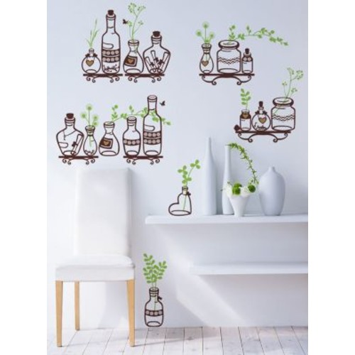 Pop Decors Plants in The Bottle Wall Decal