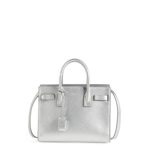 SAINT LAURENT 'Baby Sac De Jour' Metallic Leather Tote