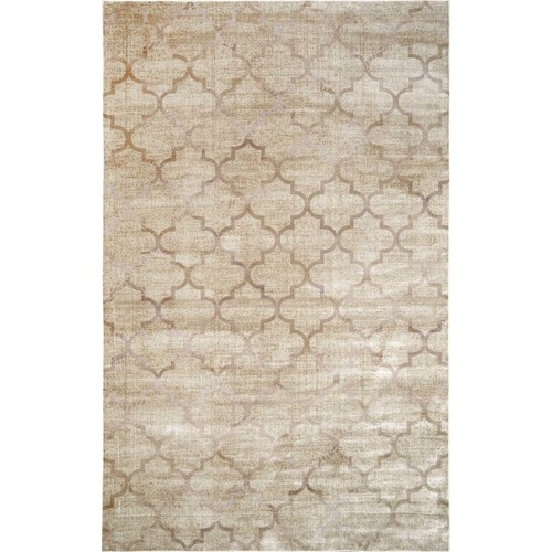 Machine Made Trellis Sonya Rug in Ivory design by Nuloom - 5'2 x 8