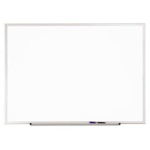 Quartet Standard Dry-Erase Board, Melamine, 36 x 24, White, Aluminum Frame