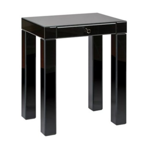 Ave Six Glass Reflections Accent Table