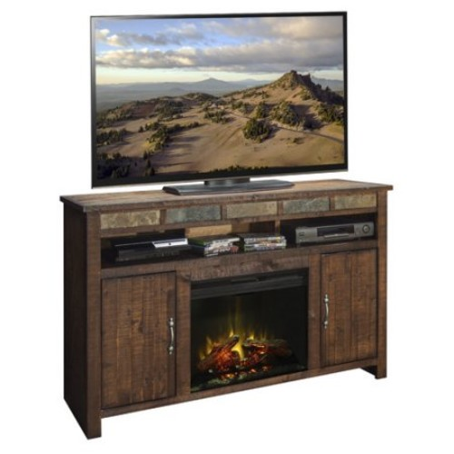Legends Furniture Old West 60'' TV Stand with Fireplace