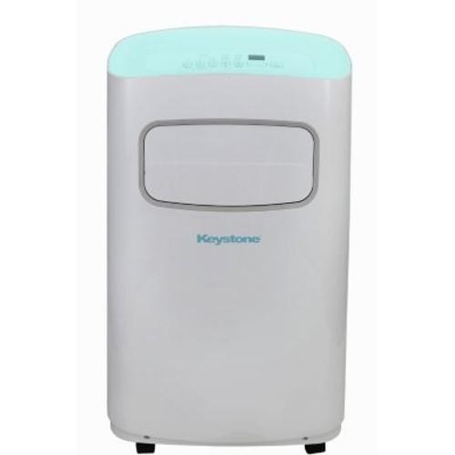 Keystone 12,000 BTU 115V Portable Air Conditioner with Remote Control in White/Blue
