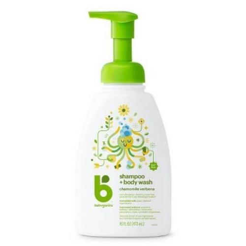 Babyganics Shampoo + Bodywash Chamomile Verbena -- 16 fl oz