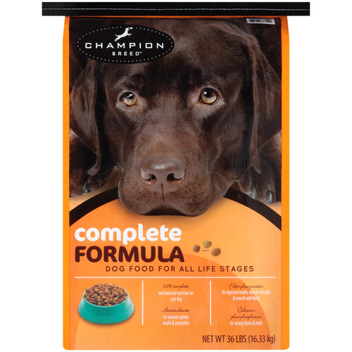 Champion Breed Complete Formula Dog Food 36 lb Bag