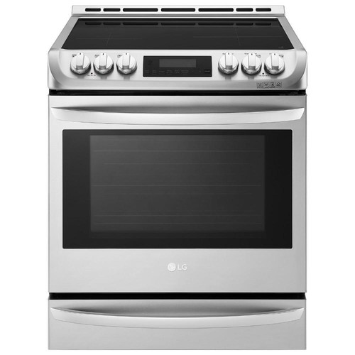 LG Electronics 6.3 cu. ft. 30 in. Slide-In Electric Range with ProBake Convection, Induction and EasyClean Oven in Stainless Steel