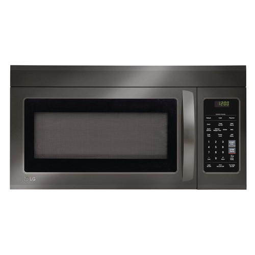 LG 1.8 cu.ft. Over-the-Range Microwave Oven - Black Stainless Steel