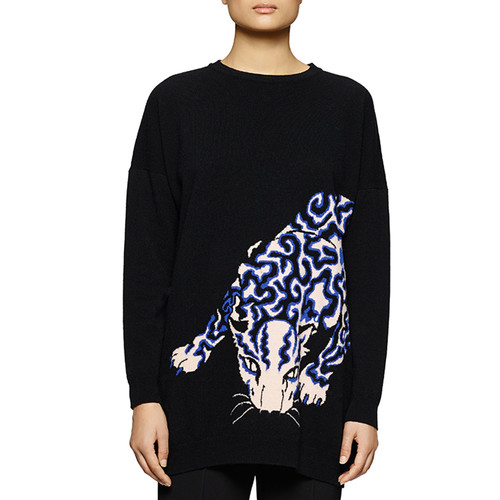 STELLA MCCARTNEY Leopard-Print Knit Sweatshirt