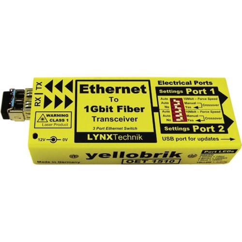 yellobrik OET 1510 Ethernet to 1Gbit Fiber Transceiver Switch